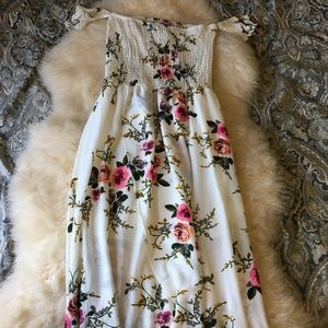 SheIN high low floral dress